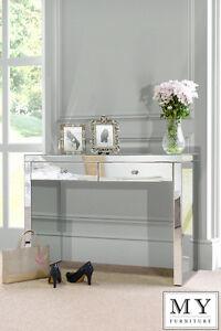 Venetian Mirrored Dressing Table / Console 2 Legs