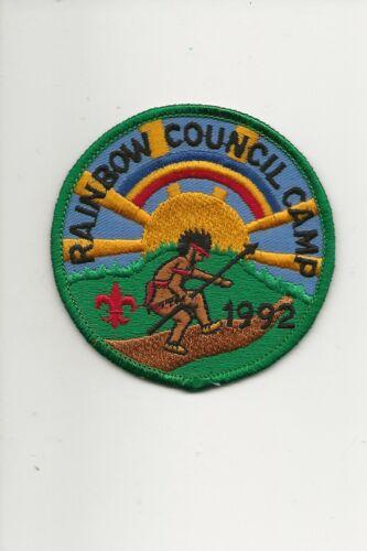 RAINBOW COUNCIL /  1992 Summer Camp patch - Boy Scout BSA A132/7-4