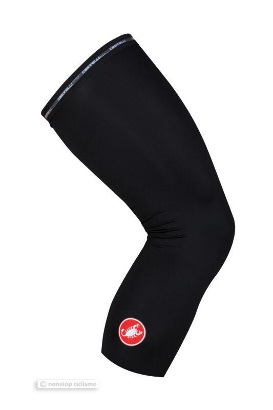 Castelli UPF 50+ Light Knee Sleeves UV Protection Knee Skins : BLACK