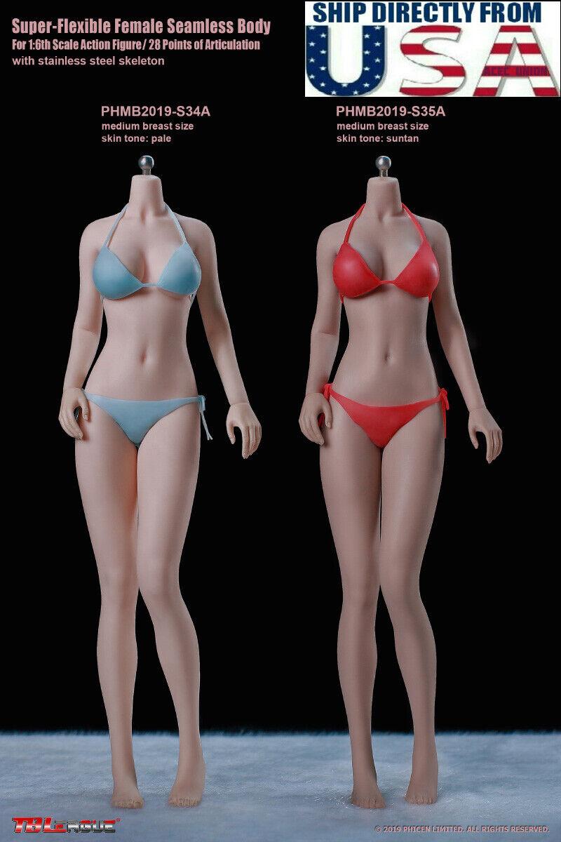PHICEN TBLeague 1//6 Buxom Women S29B Seamless female plump Body SUNTAN ❶USA❶