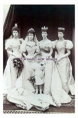 rs0084 - Queen Maud of Norway , Wedding Day with Bridesmaids - photograph
