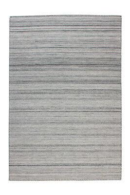 Teppich Streifen Gestreift Linien Struktur Vintage Used Grau 120X170Cm - Chenille Streifen-teppich