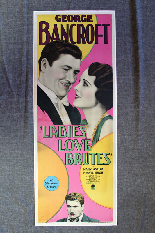 Ladies Love Brutes (1930) US Insert Movie Poster