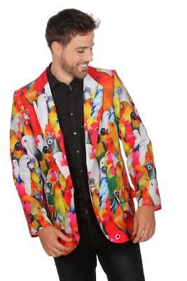 WIL - Herren Kostüm Sakko Jacke Papagei Vögel Karneval