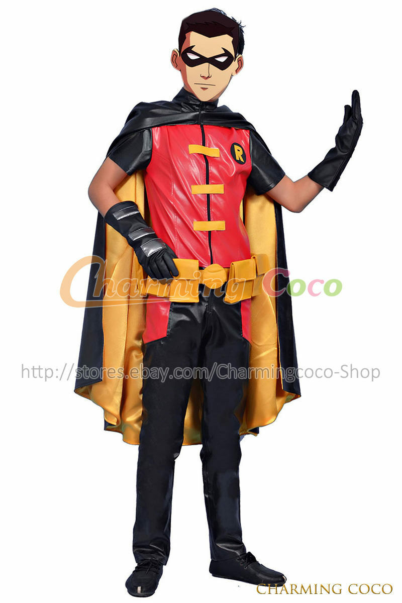 young justice cosplay robin timothy jackson tim drake costume uniform outfit custom size order ebay - Ebaycom Halloween Costumes