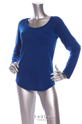 NEW ALFANI INTIMATES Women Round Neck Cotton Sleep Shirt Sapphire Sea Size M