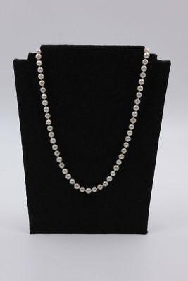 Alte  Zucht-Perlenkette 7 mm  Länge: 80 cm , 1950/60er Jahre