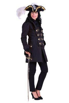 THE - Damen Kostüm Piratenjacke Jacke Piratin Karneval Fasching