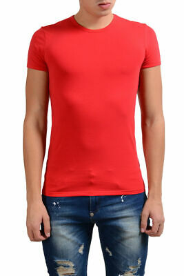 Versace Collection Men's Red Stretch Crewneck Short Sleeve T-Shirt XS S M L XL