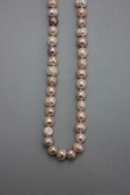 Lange Süßwasser-Perlenkette  multicolor 140 cm