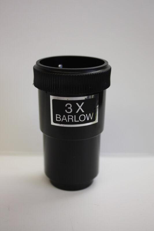 """Economy Telescope Eyepiece 3X Shorty Barlow 1-1/4 Inch 1.25"""" - New!"""