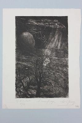 Edouard Goerg (1893-1969) - Unwetter  Original-Radierung, um 1930