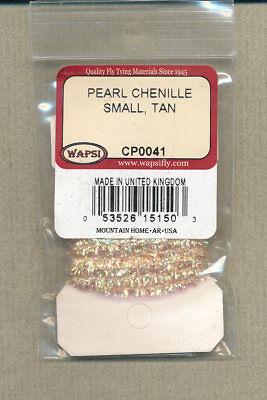 fl orange // pearl large 3 yds Chenille Glow Brite