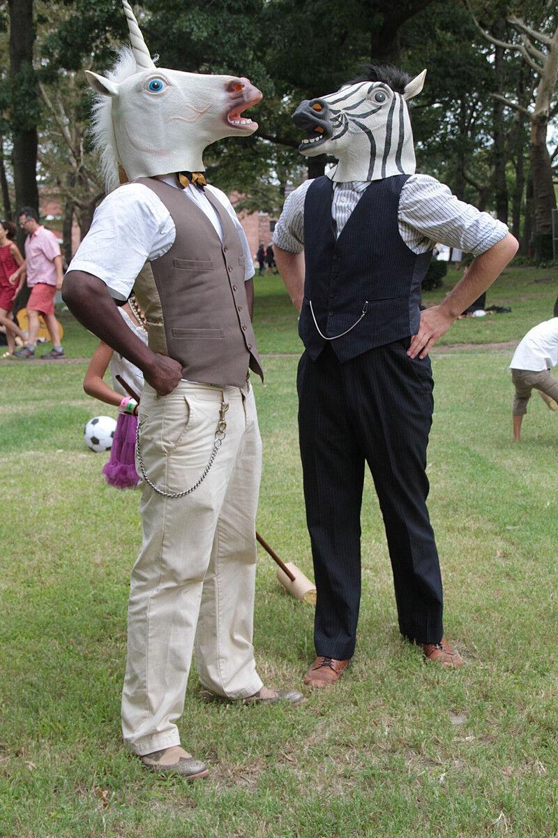 Hot Unicorn Horse Head Mask Creepy Halloween Costume Theater Latex ...