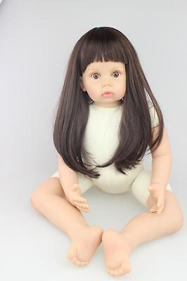 """28"""" Vinyl Silicone Reborn Baby Toddler Girl Dolls Lifelike Toys Naked Xmas Gifts for sale  Shipping to Canada"""