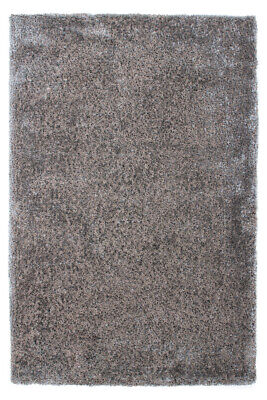 Shaggy Shaggy Rug Rugs Soft Comfortable Gloss Silver Grey 200x290cm