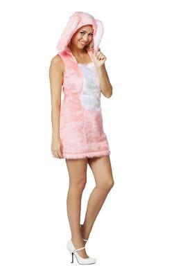 FFF - Damen Kostüm sexy Kleid Hase in rosa Karneval Fasching