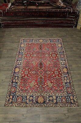 Allover Rare Size Antique Handmade Tabriz Persian Area Rug Oriental Carpet 6X10