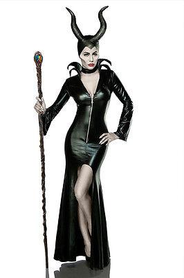 Damen Teufel Halloween-kostüm (Sexy Damen Hexe Halloween Kostüm Karneval Teufel Komplettset XS S M L XL XXL #54)