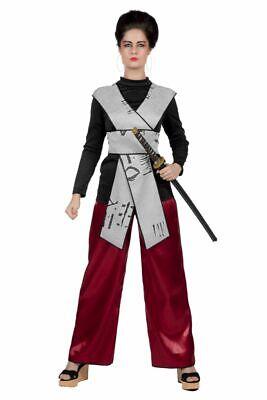 WIL - Damen Kostüm Samurai Ninja Kämpferin Karneval - Damen Ninja Kostüme