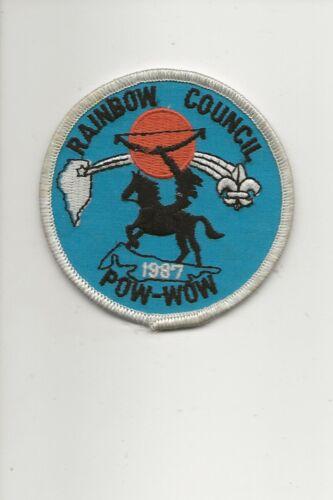 RAINBOW COUNCIL / 1987 POW WOW  patch - Boy Scout BSA /7-18