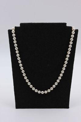 Perlenkette mit Silberverschluss  Länge 73,5 cm