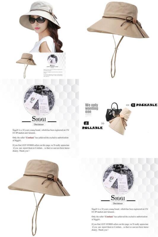 Siggi Bucket Cord Sun Summer Beach Hat with Wide Brim for Wo