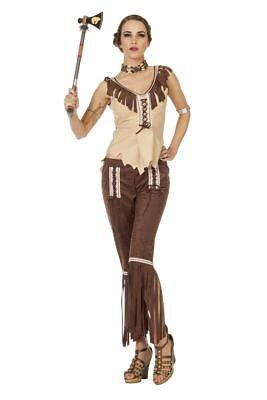 WIL - Damen Kostüm Cherokee Indianerin Squaw Karneval - Cherokee Kostüme