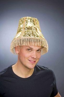 FM - Kostüm Zubehör Hut Lampenschirm gold KW59 - Lampenschirm Hut Kostüm