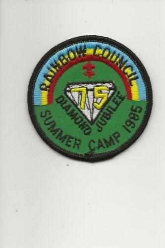 RAINBOW COUNCIL /  1985 Summer Camp patch - Boy Scout BSA A132/7-4