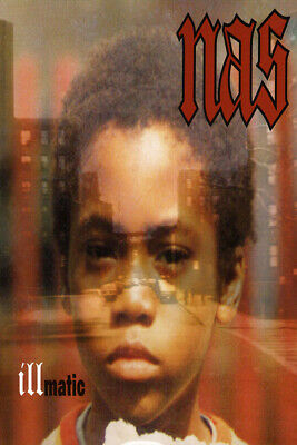 V1000 fabric Poster Illmatic Nas Cover The Best Rap Hip Hop Album Of All Time
