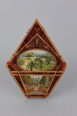 Souvenir de Nice  Hinterglasansicht, um 1900