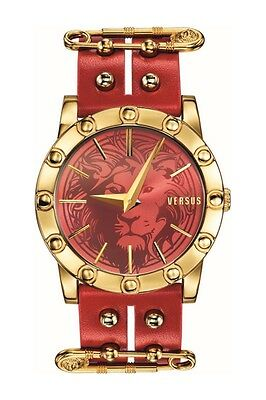 Versus by Versace Women's SF7040014 Miami Red Dial Red Leather Band Watch