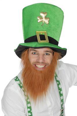 �r Hut Zylinder Irland Kobold mit Bart Karneval  (Halloween-kostüm Irland)