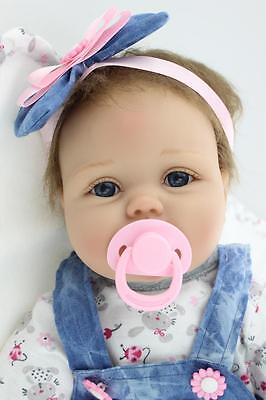 "22"" silicone vinyl reborn doll gift baby dolls lifelike baby newborn handmade on Rummage"
