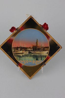 Souvenir de Dunkerque  Hinterglasansicht, um 1900