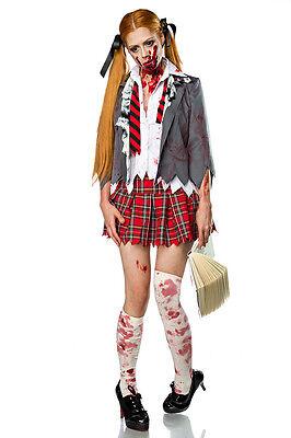 �dchen Kostüm 5-teilig School Girl Horror Halloween Karneval  (Zombie Schulmädchen Halloween)