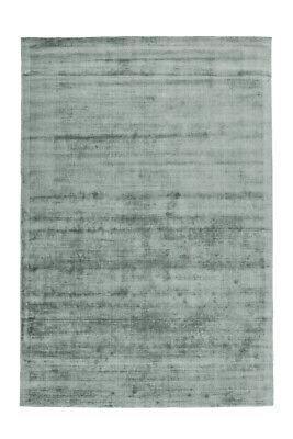 Flachflor Teppiche 100% Viskose Handgewebt Modern Kurzflorteppich Mint Grau