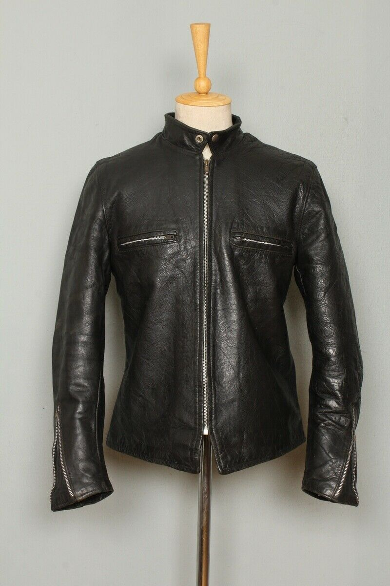 STUNNING Vtg 1950s BUCO J100 HORSEHIDE Cafe Racer Leather Motorcycle Jacket Med