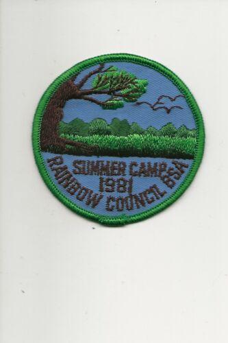 RAINBOW COUNCIL /  1981 Summer Camp patch - Boy Scout BSA A132/7-4