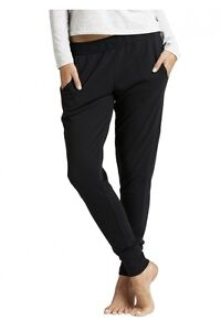 Authentic Bonds Womens Black Grey Rock Marle BASIC CUFF TRACKIE TRACK PANTS
