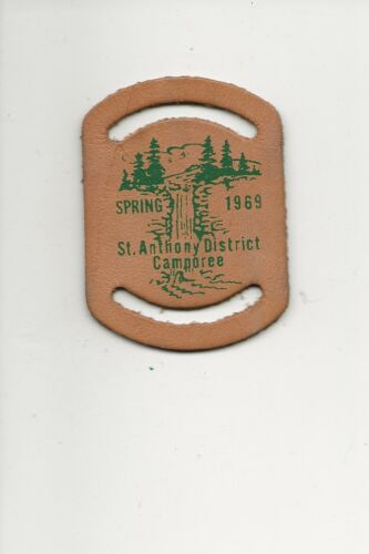 LEATHER  NC  SLIDE / 1969 St. Anthony District - Boy Scout BSA A132/7-18
