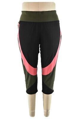 Livi Quick Women Activewear Pants & Capris 26 Plus Black Polyester