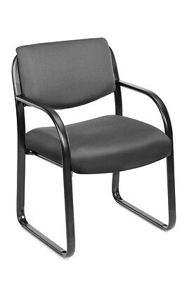 Boss Gray Fabric Guest Office Chair Steel Frame New