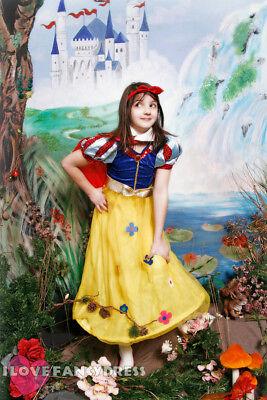 GIRLS SNOW GIRL COSTUME SCHOOL BOOK WEEK FANCY DRESS CHILDS FAIRYTALE - Fairytale Girl Characters