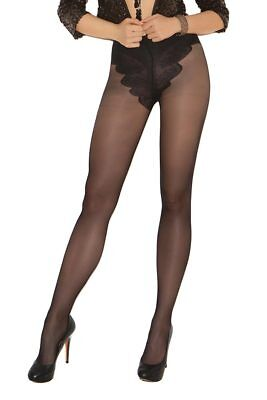 Sexy Plus Size French Cut Support Pantyhose Tights- Fits Size 14-18
