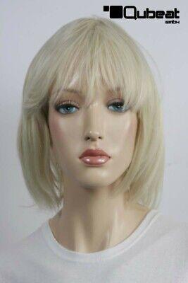 Perücken Damen Kurz blond Polyester Pony Glatt Alltag Stylisch 80er Jahre Party