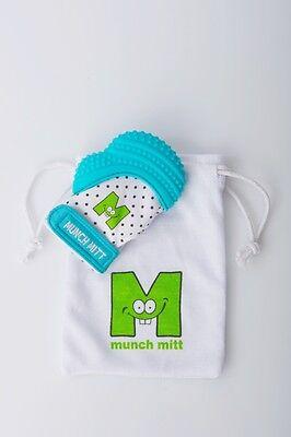 Munch Mitt Baby Teething Mitten - Aqua Blue - FREE SHIPPING