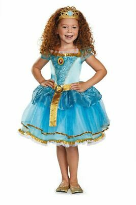 Disney Pixar Brave Merida Prestige Gold Tiara Girls Costume Princess M (7-8)