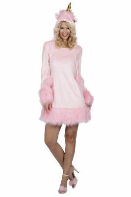 WIL - Damen Kostüm Einhorn rosa Kleid Karneval Fasching
